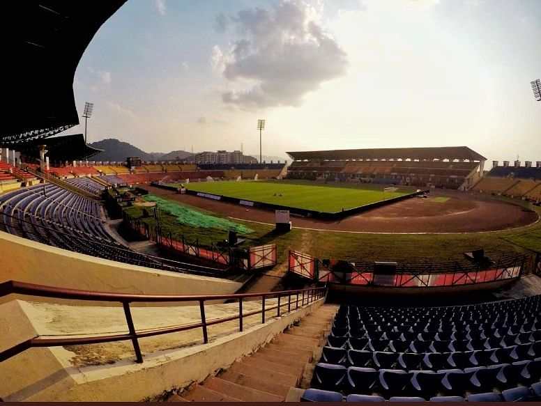 Indira Gandhi Athletic Stadium at Sarusajai, the venue for the FIFA WC qualifier match between India and Oman