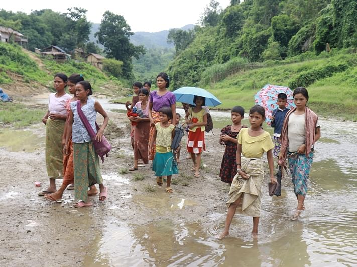 Over 200 Myanmar refugees pushed back from Mizoram