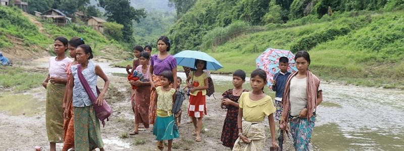 Up to 219 refugees were sent back through Laitlang in Mizoram to border pillar 8