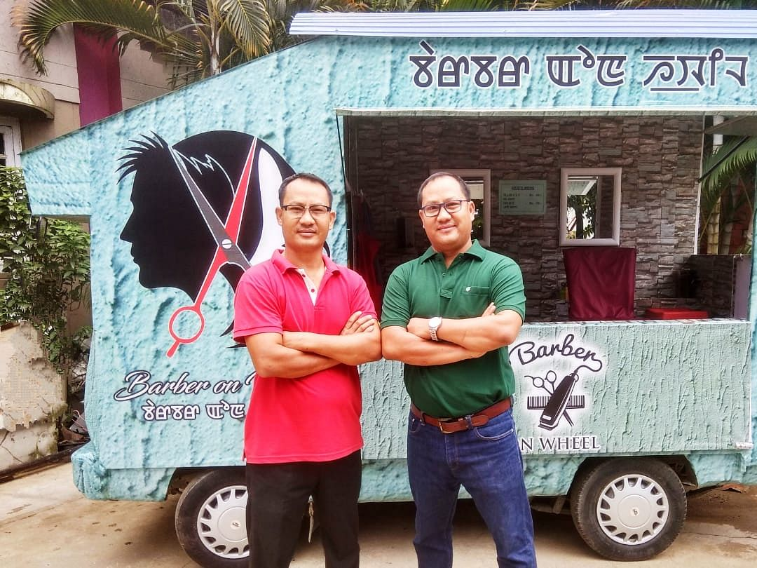 These twins' mobile barbershop is bringing fresh cuts to Manipur