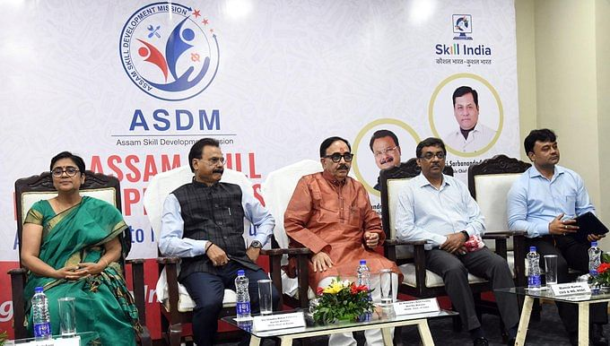 Union minister Mahendra Nath Pandey attends a programme hosted by the Assam Skill Development Mission in Guwahati