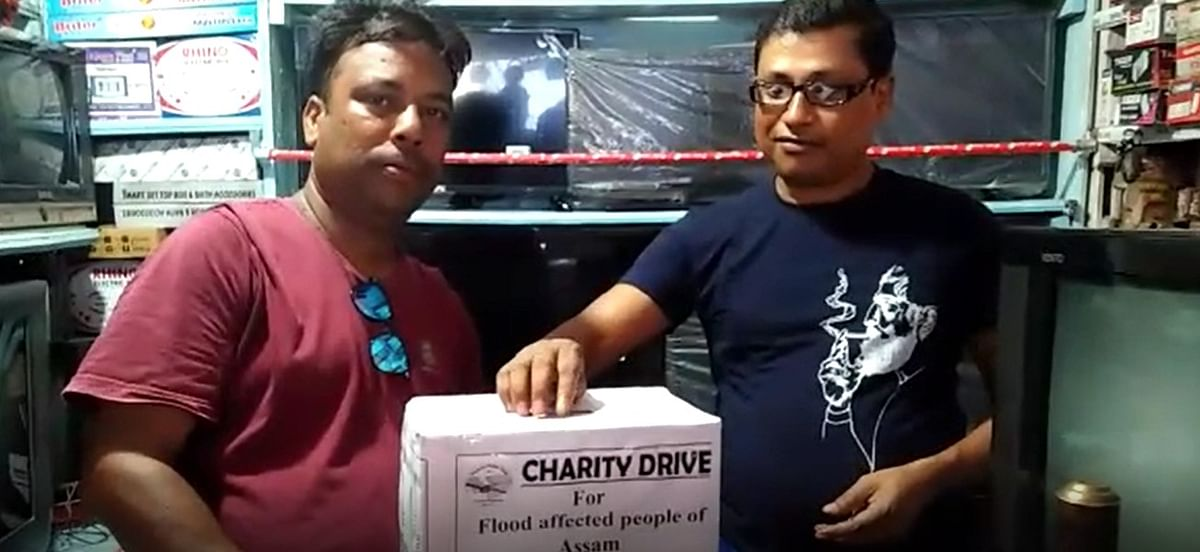A total amount of Rs 9,000 was collected on the first day of the 'charity drive' on Thursday