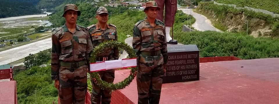 Wreath-laying ceremonies were held at the Hut of Remembrance (Walong) and at Namti War memorial in Arunachal Pradesh