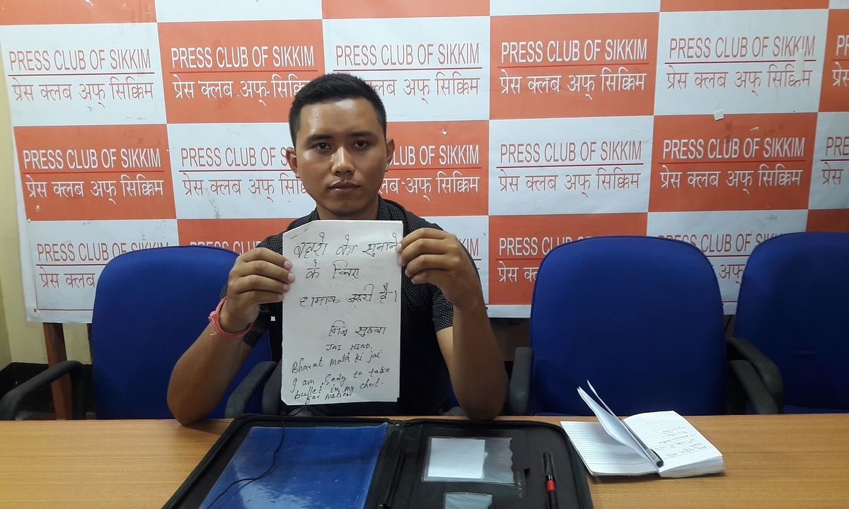 I am not terrorist, want to raise my demands with PMO: Sikkim lad