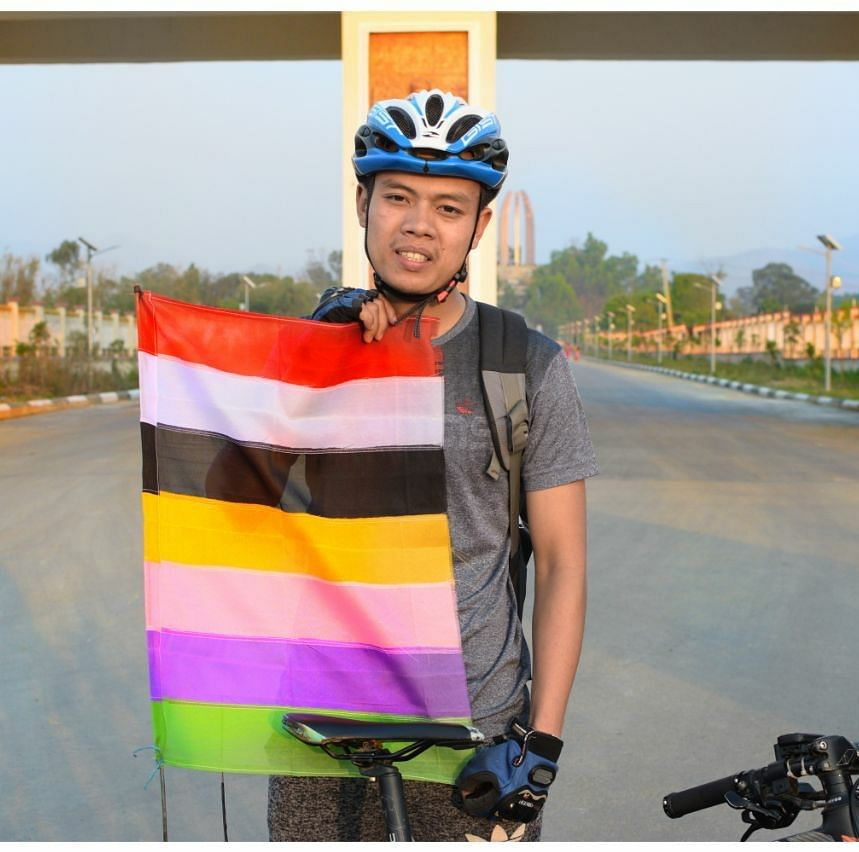 During his solo trip, Ji Ingobi Chingtham will cover about 10,000 km and pass through Southeast Asian countries, including Myanmar, Thailand, Malaysia, Cambodia, Laos, Vietnam and Singapore
