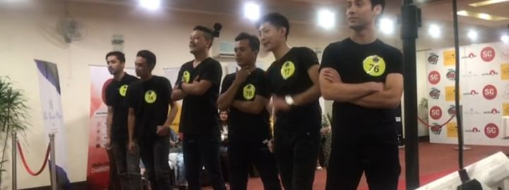 Contestants auditioning for Mr Sikkim 2019 Manhunt in Gangtok recently