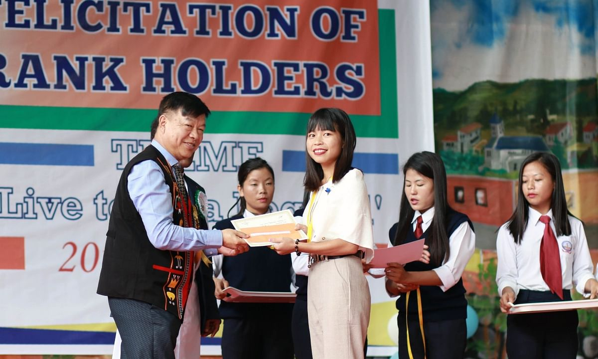 Manipur MP Lorho S Pfoze honours 66 toppers of Don Bosco College