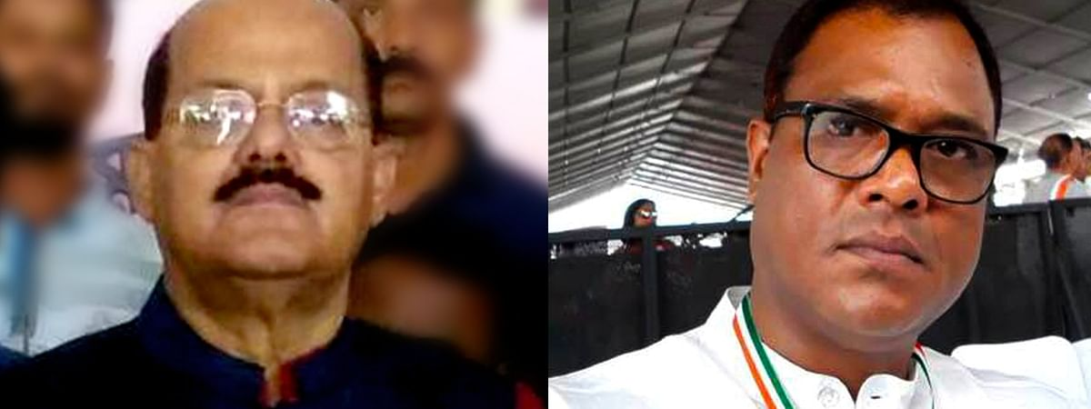 Former Assam minister Gautam Roy (left) and ex-Rajya Sabha member Santiuse Kujur resigned from the Congress on Saturday