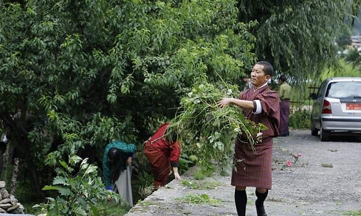 Only in Bhutan: This is PM Lotay Tshering getting his hands dirty