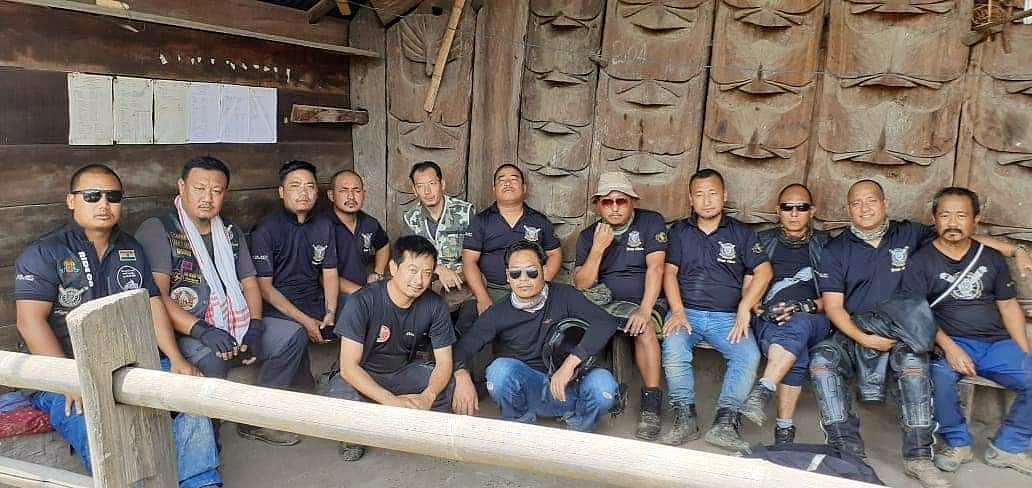 Nagaland Motorcycle Club Kohima Chapter rode 72 km to Zhavame village from Kohima on Saturday and Sunday