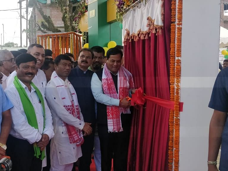 Assam CM Sonowal unveils state's first CNG station in Dibrugarh