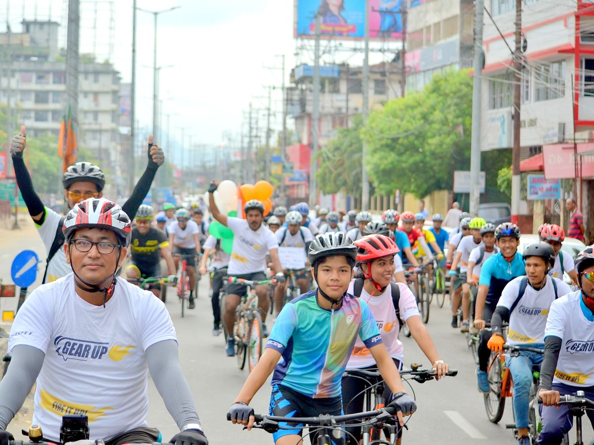 Assam: Over 400 cyclists come together for 'Freedom Ride 2019'