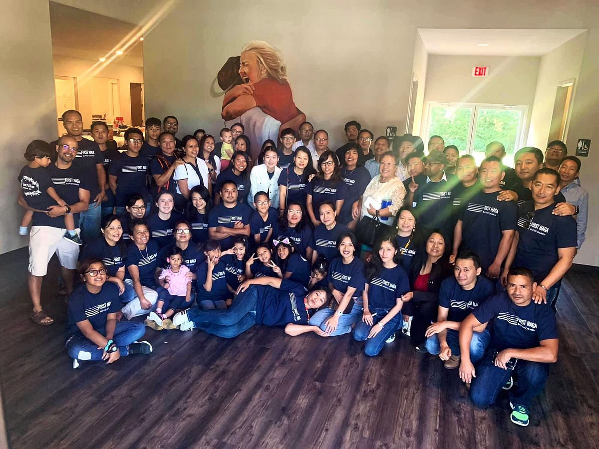 Over 150 families attended the inauguration ceremony of First Naga Baptist Church at Dallas Forth Worth in Texas, USA on August 11