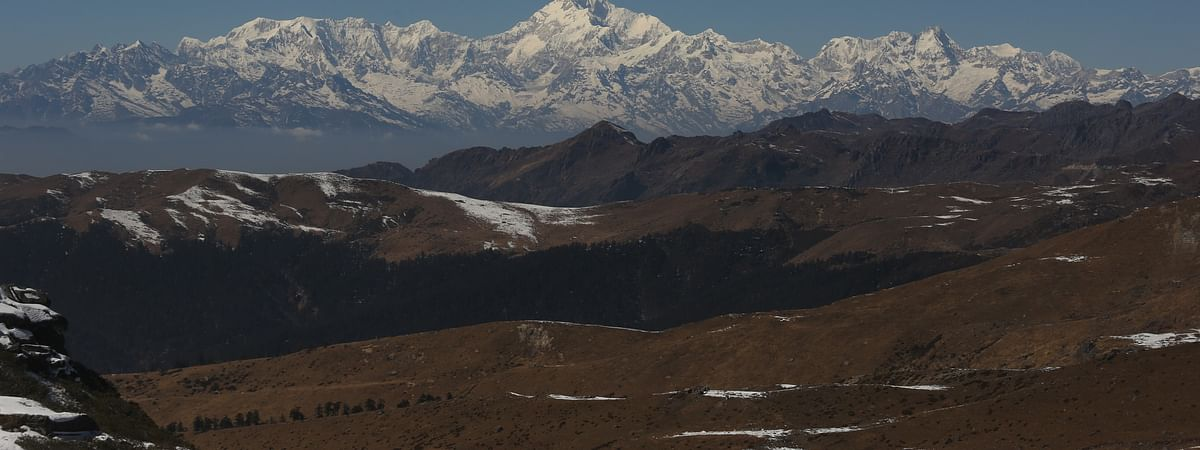 Mt Kanchenjunga captured on the way to Dzuluk in East Sikkim