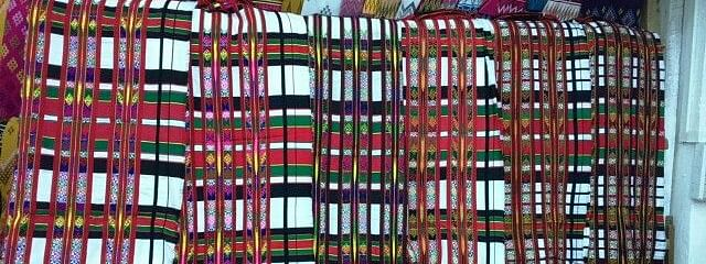 Mizo Puanchei is the most colourful and popular among the Mizo shawls