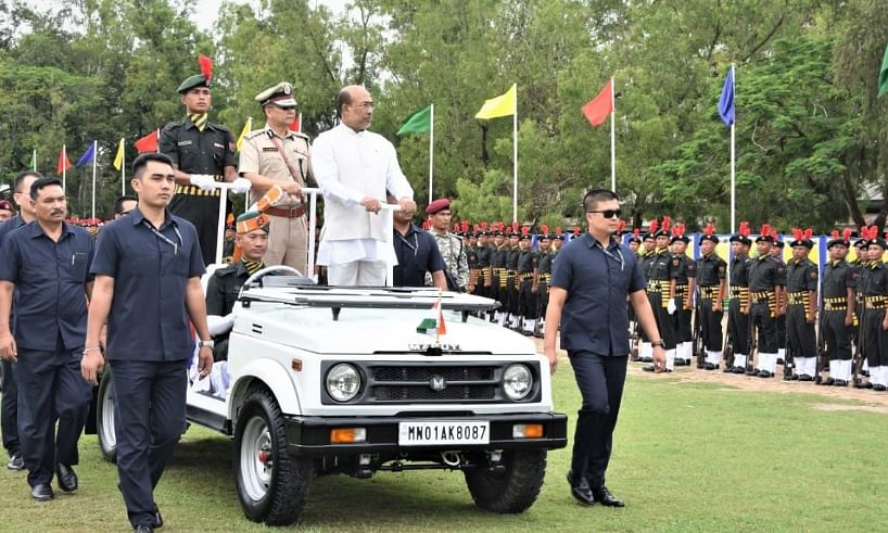 Manipur: 567 cadets pass out from Police Training Centre at Pangei