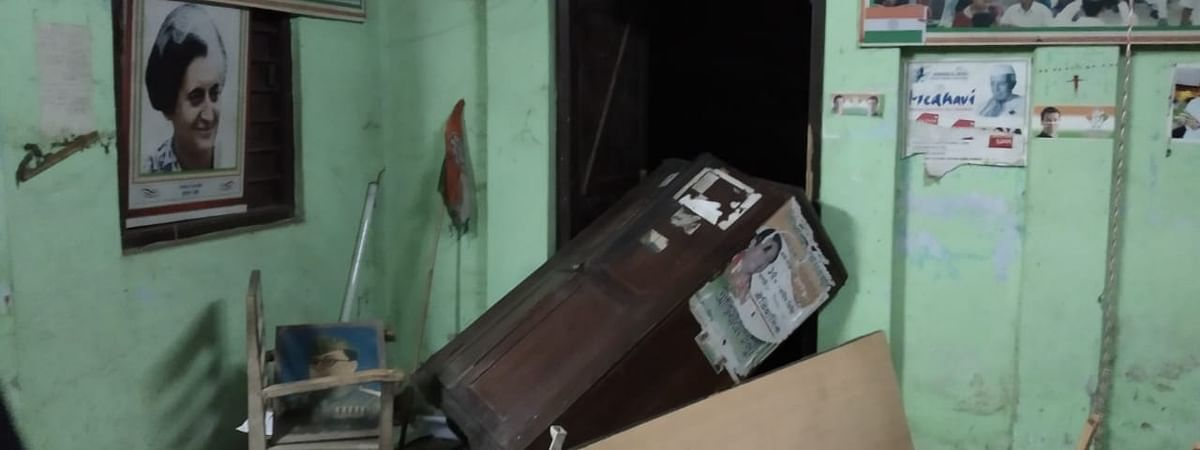 The office of the Kailashahar unit of the Congress was vandalised by a group of miscreants on August 28