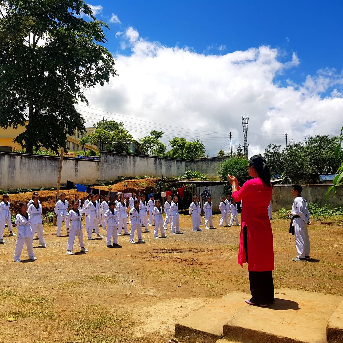 The five-member team of Craft Gallery is also involved in imparting self-defence classes to girls in the town under the 'Beti Bachao Beti Padhao' initiative