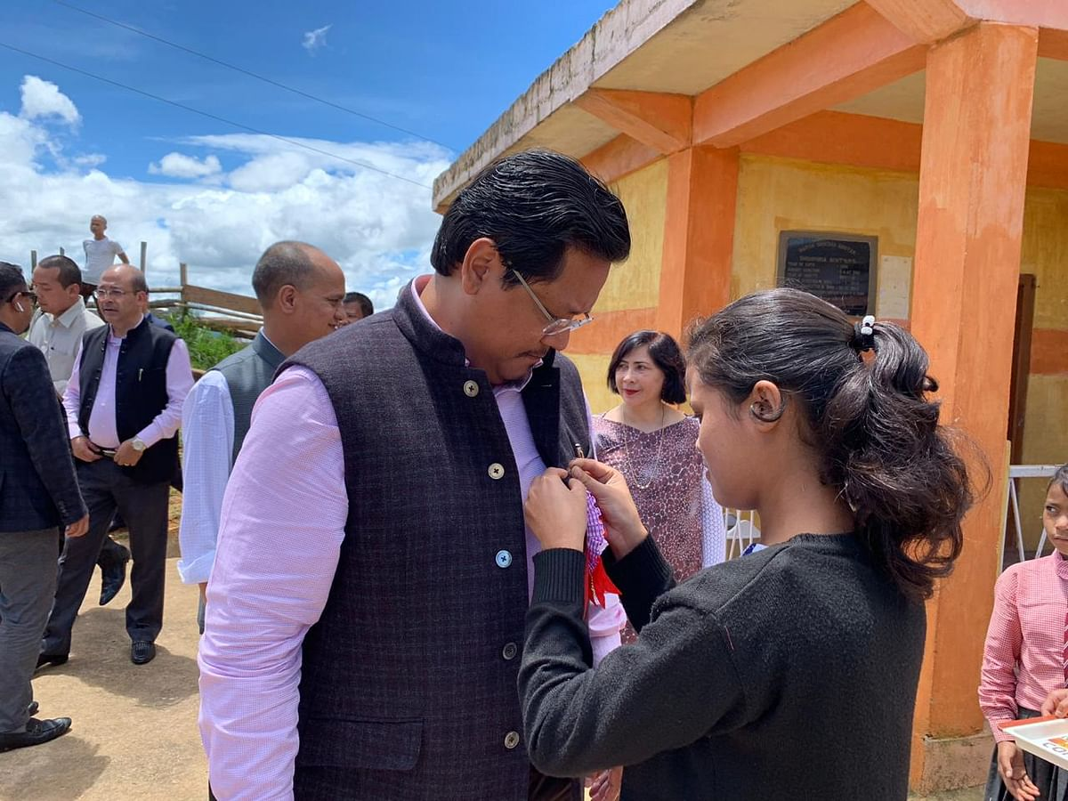 Meghalaya CM Conrad K Sangma donated one and a month of his salary to the school for improving infrastructure