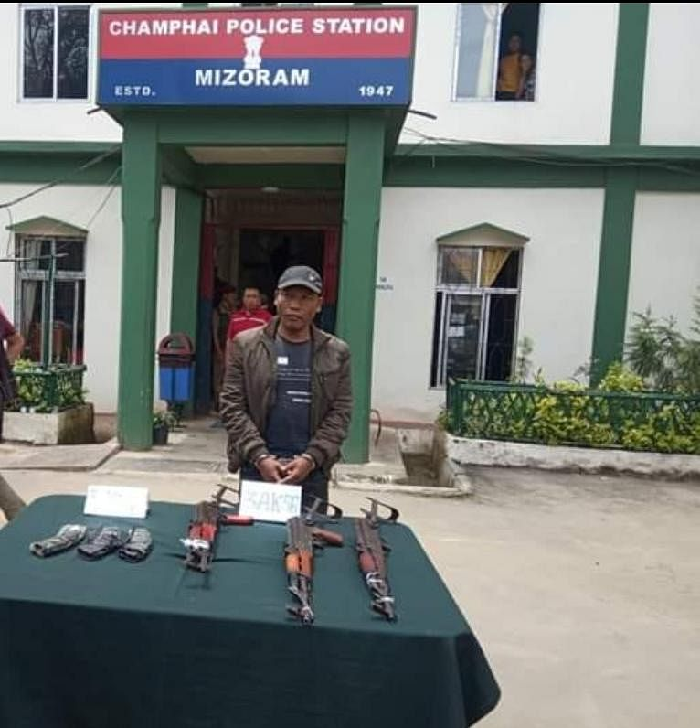 The accused, Keilianthanga, a resident of Dihai in Myanmar, has been handed over to the Champhai police in Mizoram for further investigation