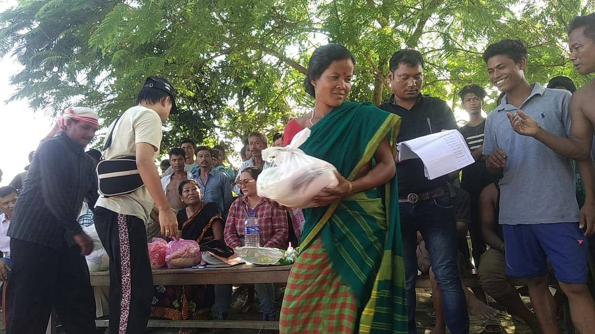 Relief materials were distributed to 201 households in the area