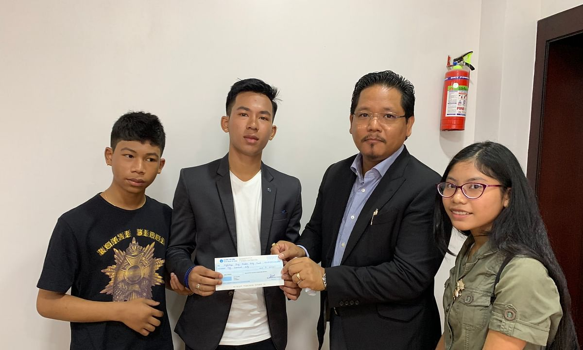 Meghalaya teens donate 2 years' savings to CM's relief fund