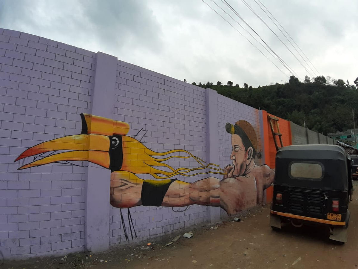 Another painting that adorns one of the walls in Seppa, East Kameng district