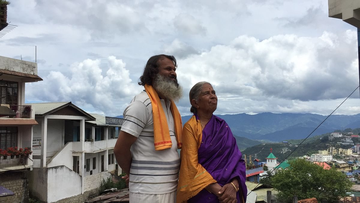 The mother-son pair are travelling on a 20-year-old Bajaj Chetak scooter which was a gift from his late father