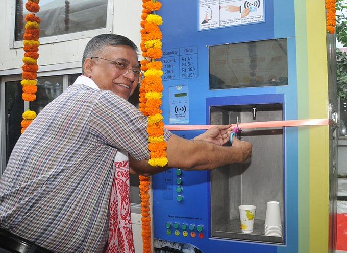 Water ATMs installed in Guwahati under Smart City Mission by Assam law minister Siddhartha Bhattacharya