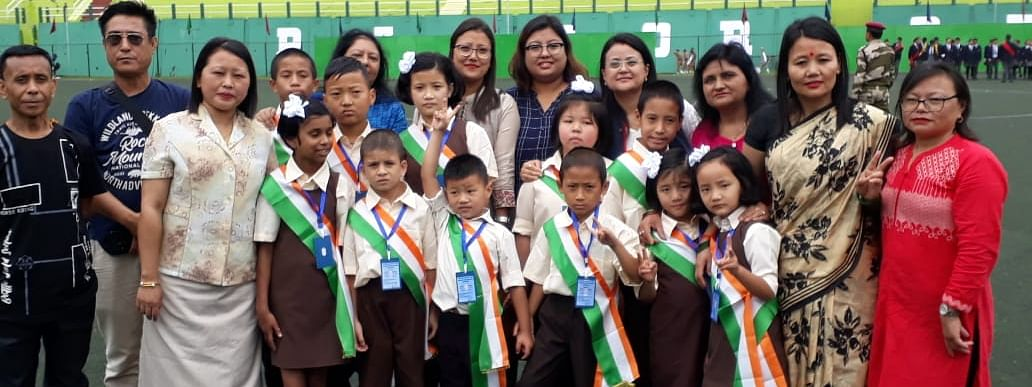 Special children with their educators at Paljor Stadium, Gangtok in Sikkim on Thursday