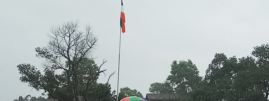 The tricolour was hoisted upside down in Dambuk circle of Arunachal Pradesh's Lower Dibang Valley district on Thursday morning