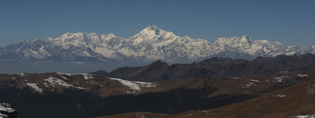 A majestic view of Mt Kanchenjunga captured from East Sikkim