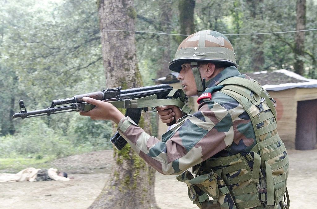 Indian Army personnel deputed in the area also retaliated and exchange of fire took place between the two sides