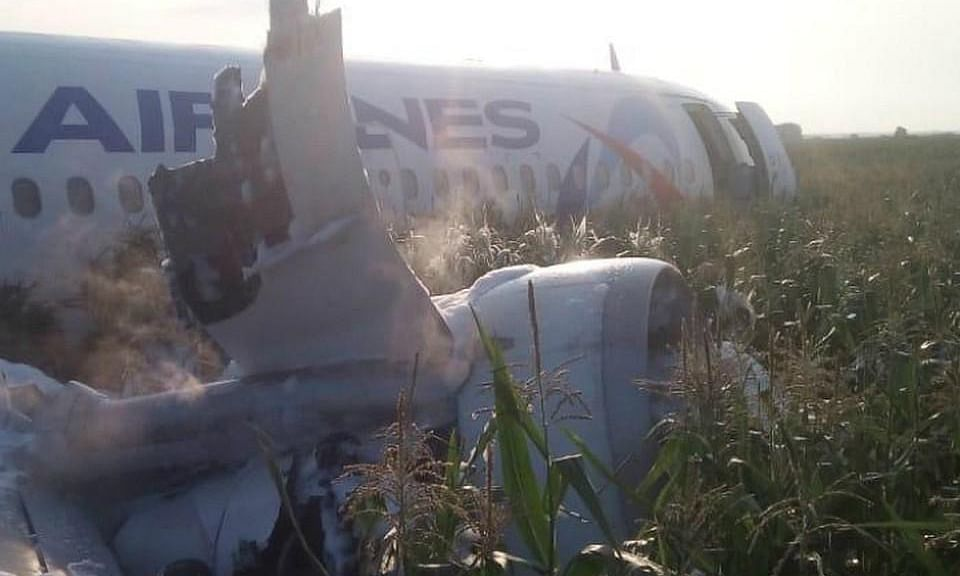 PHOTOS: Russian pilot does a 'Sully', crash-lands plane in field