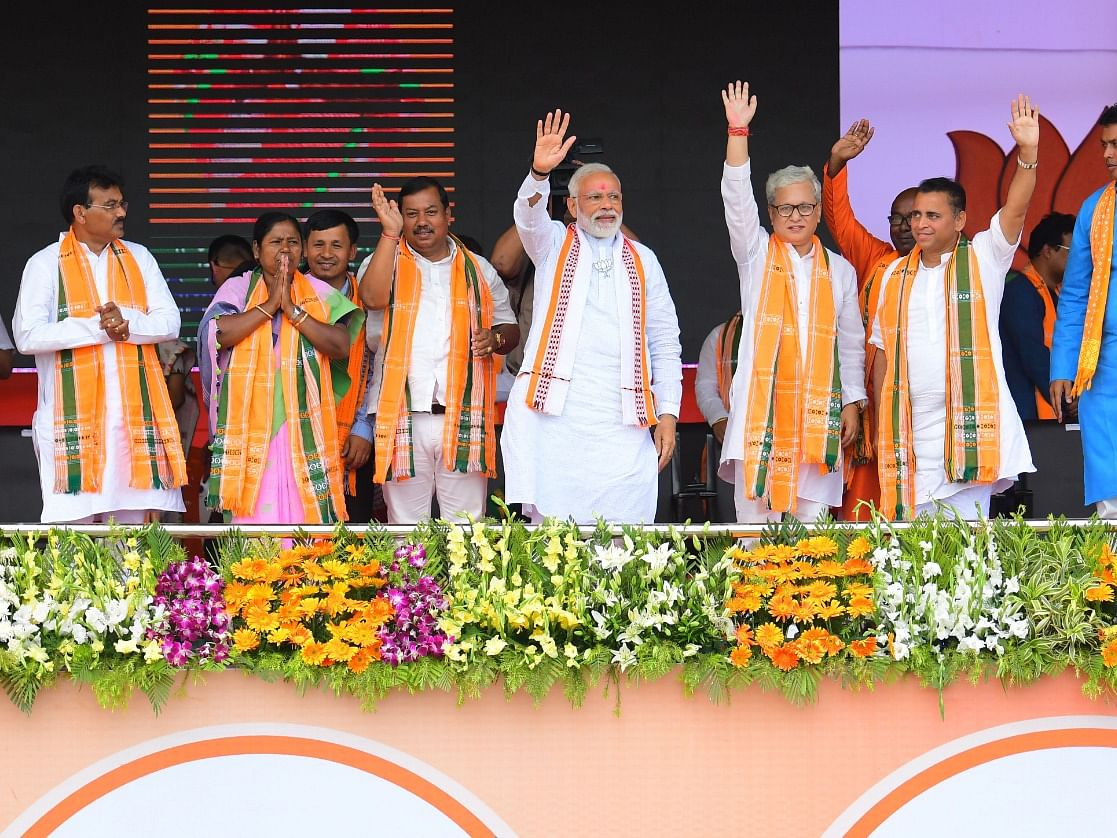 PM Modi hails Tripura BJP workers for victory in panchayat polls