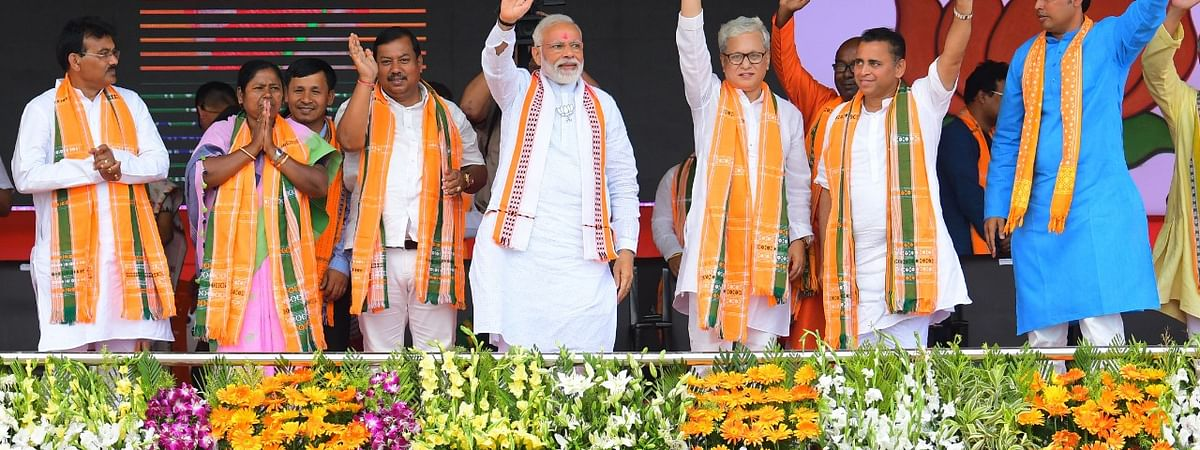 PM Narendra Modi took to his Twitter handle to congratulate BJP's massive win in the three-tier panchayat polls