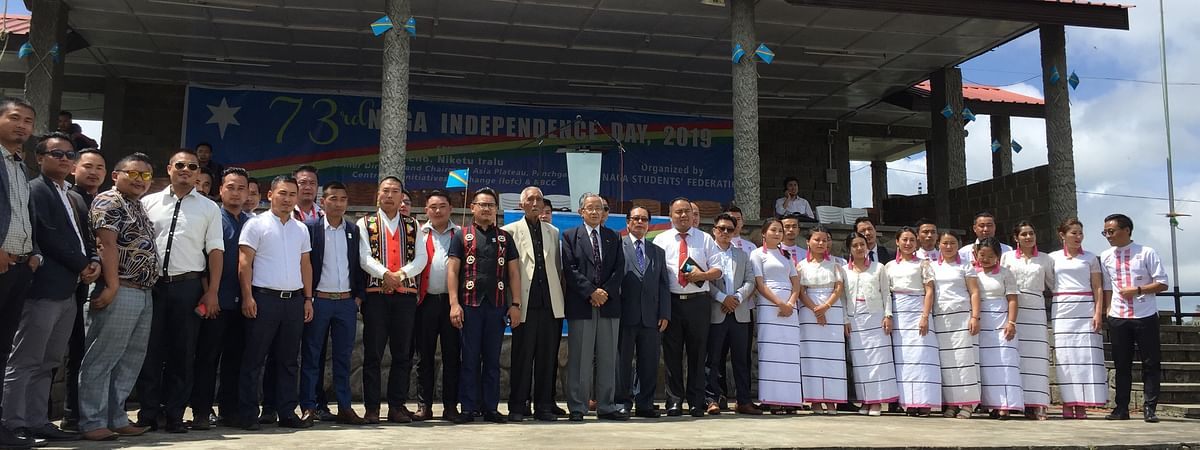 NSF leaders along with peace activist Niketu Iralu and others during the event