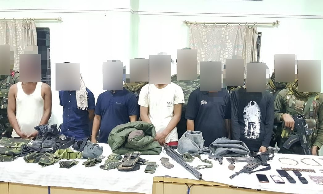 Manipur: 6 USRA rebels held; arms & ammunition recovered