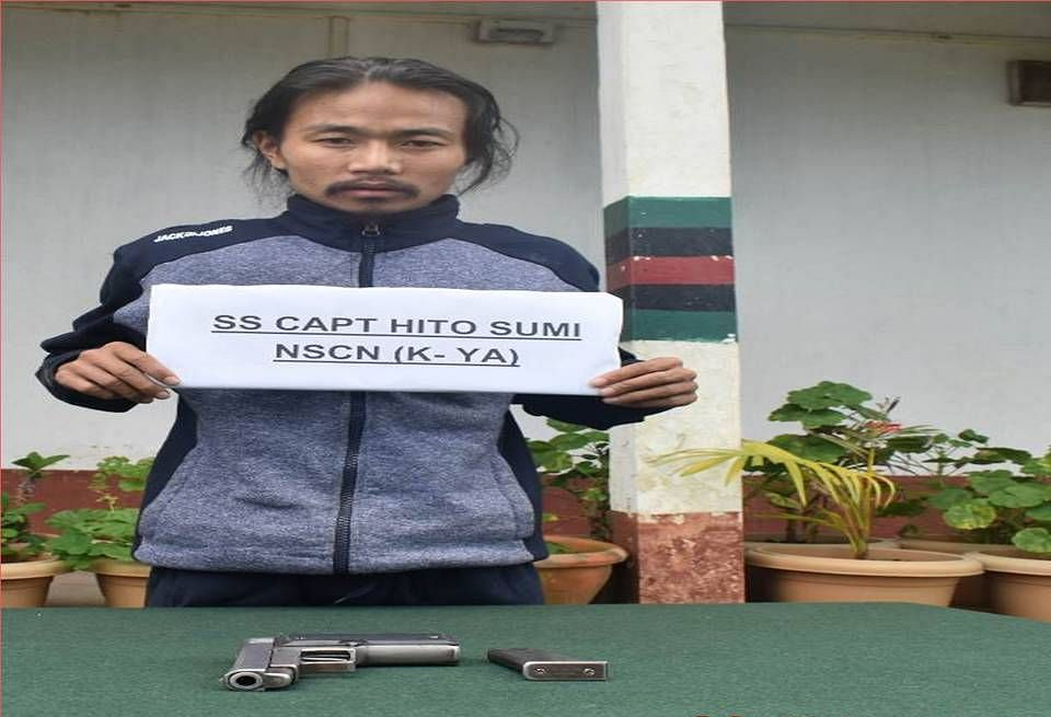 Hito Sumi, a self-styled captain of the NSCN (K-YA), in custody of Assam Rifles