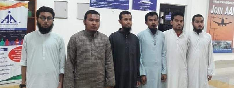 Six suspected Rohingya immigrants were detained at Imphal Airport on Sunday