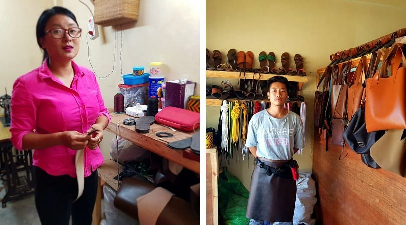 Toyi Swuro (right) with his business partner Votalu Luruo at Craft Gallery in Phek, Nagaland