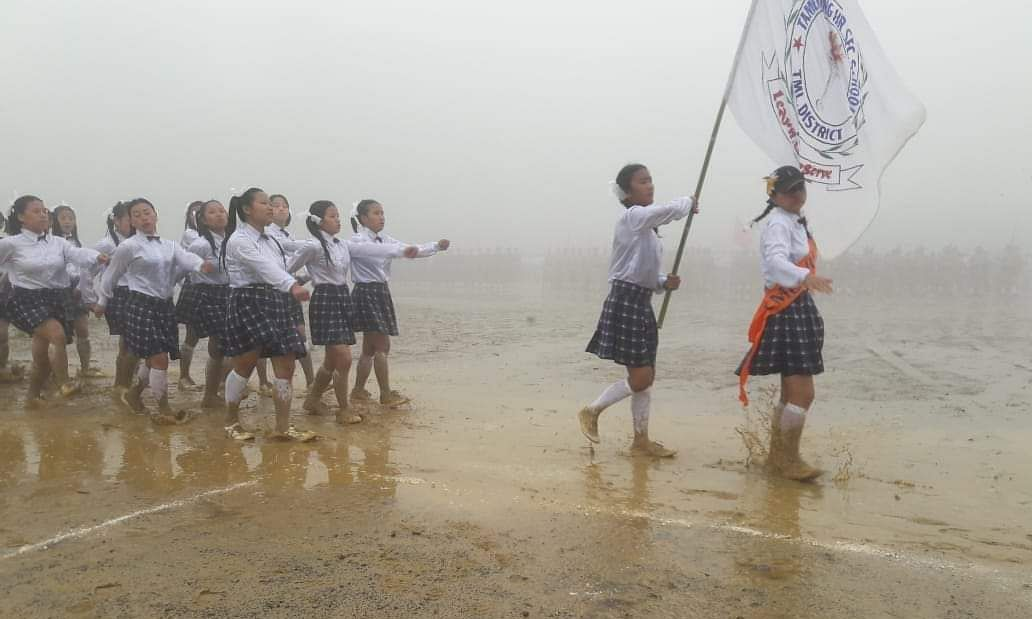 PHOTOS: How Manipur kids braved rain, mud to celebrate 73rd I-Day