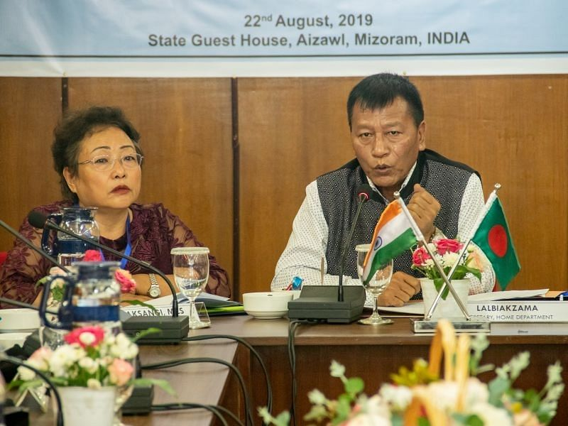 Mizoram home secretary Lalbiakzama convened the meeting between the two countries