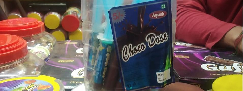 The chocolate called 'Choco Dose' looks like a syringe