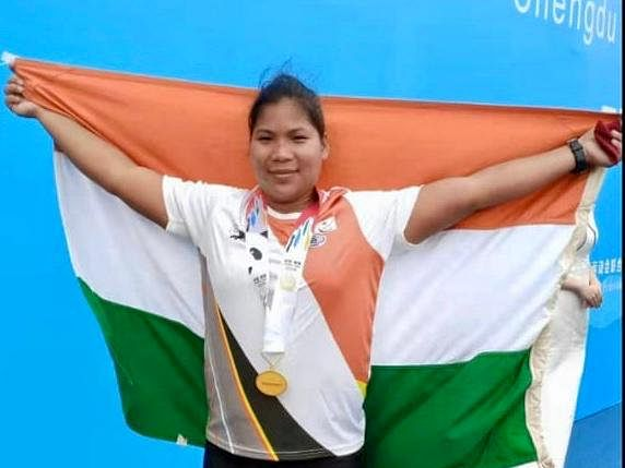 Assam's Tunlai Narzary clinches gold in shot-put in China