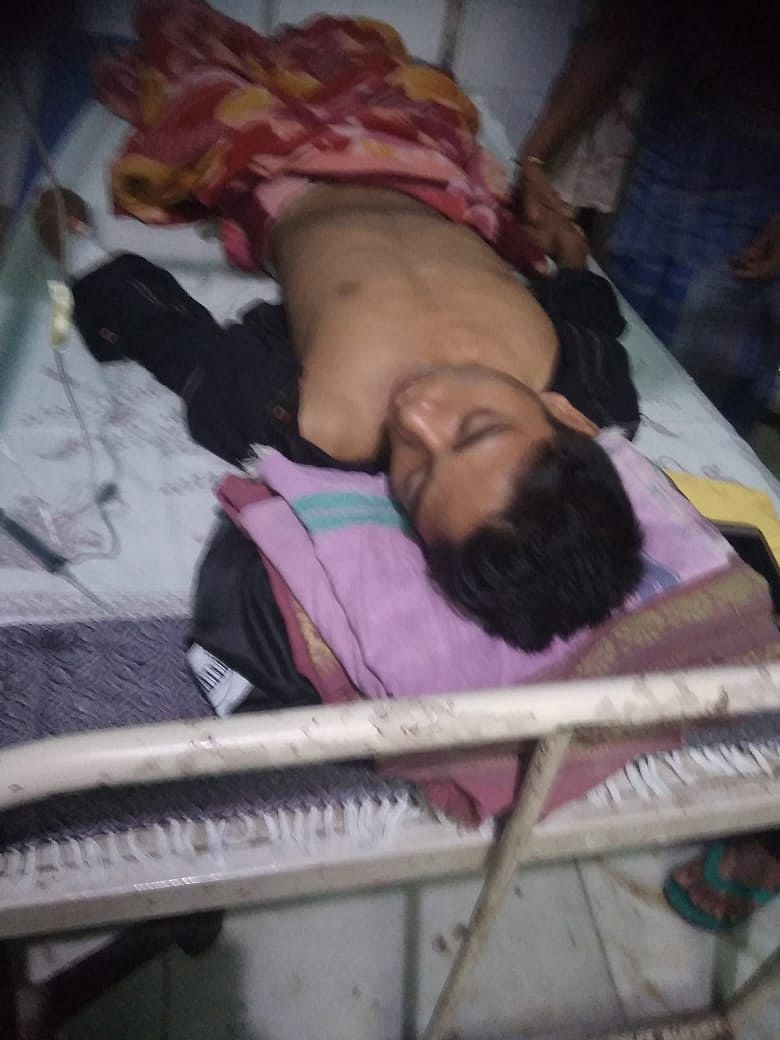 One of the injured at RNB Civil Hospital in Assam's Kokrajhar district on Friday