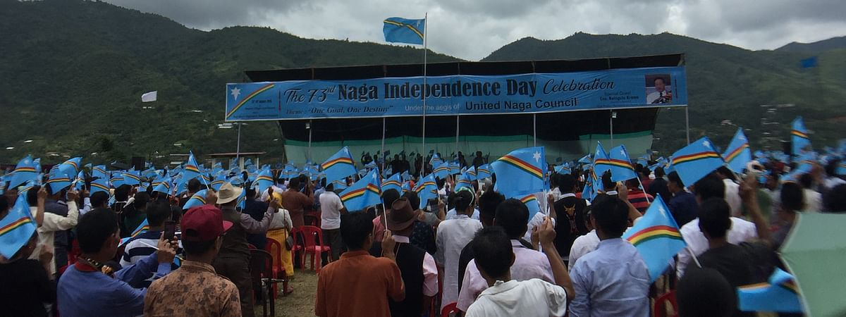 Nagas in Manipur celebrate the 73rd Naga 'Independence Day' in Senapati, Manipur with over 4,000 people witnessing the historic event on Wednesday