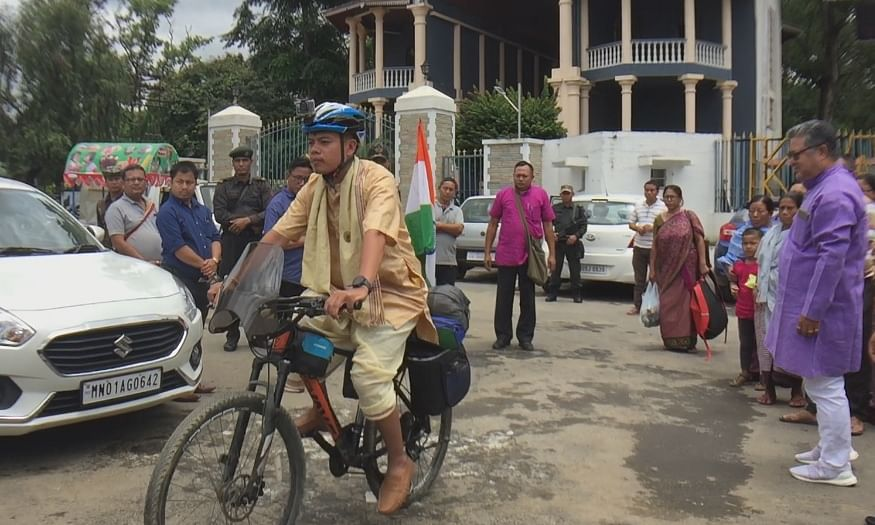 This Manipuri cyclist is on solo world tour for a cause. Know what