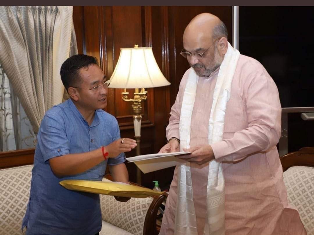 Sikkim CM submits white paper on 'financial bungling' to Amit Shah