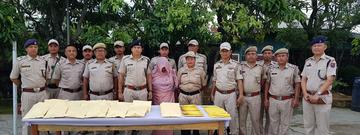 Thoubal police along with the seized consignment